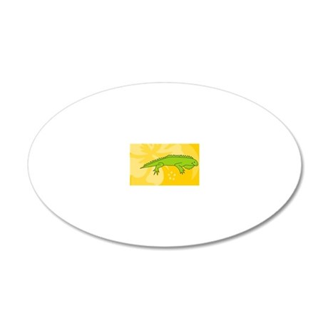 Iguana Rectangle Magnet 20x12 Oval Wall Decal