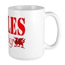 wales rugby hat dragon design Mug