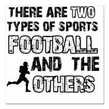"Football designs Square Car Magnet 3"" x 3"""