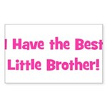 I Have The Best Little Brothe Sticker (Rectangular