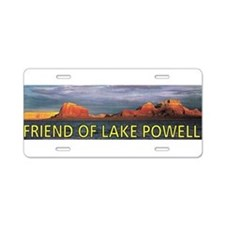 Funny Lakes Aluminum License Plate