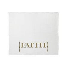 Chinese Faith Throw Blanket