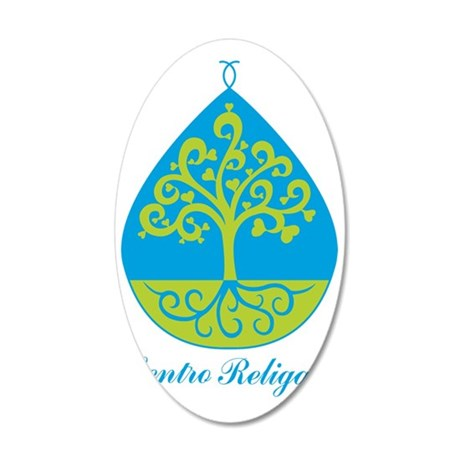 centro religare 35x21 Oval Wall Decal