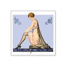 "Silk Stockings Square Sticker 3"" x 3"""