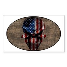 flag_skull_dark_Oval_Sticker Decal