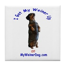 Weiner Up Tile Coaster
