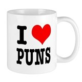 I Heart (Love) Puns Mug