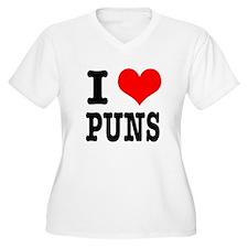 I Heart (Love) Puns T-Shirt