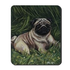 Pug in a Field Mousepad