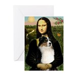 MonaLisa-Tri Aussie Shep2 Greeting Cards (Pk of 10