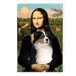 MonaLisa-Tri Aussie Shep2 Postcards (Package of 8)