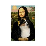 MonaLisa-Tri Aussie Shep2 Rectangle Magnet (100 pa