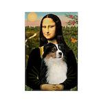 MonaLisa-Tri Aussie Shep2 Rectangle Magnet (100 pa