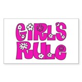 ...Girls Rule... Rectangle Decal