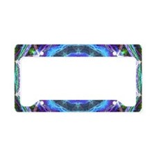 Glowing Star Mandala License Plate Holder