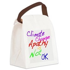 Climate Change Apathy is Not OK Canvas Lunch Bag
