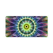 Flower Eye Aluminum License Plate