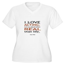 Oscar Wilde Quote on Acting T-Shirt