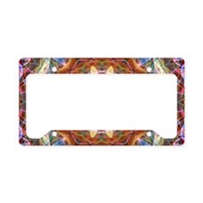 Nature Love mandala License Plate Holder