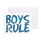 ...Boys Rule... Greeting Cards (Pk of 10)