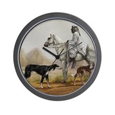 Arabian Bedouin Hunting with Two Saluki Wall Clock