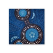 "aboriginal vertical Square Sticker 3"" x 3"""