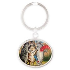 Three Little Kittens Lost Their Mitt Oval Keychain