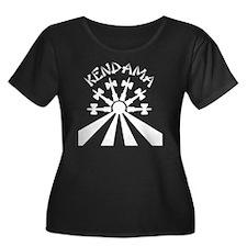blk Kend Women's Plus Size Dark Scoop Neck T-Shirt