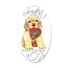 cocker mom-card Oval Car Magnet