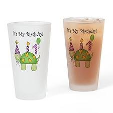 Turtle 1st Birthday Drinking Glass