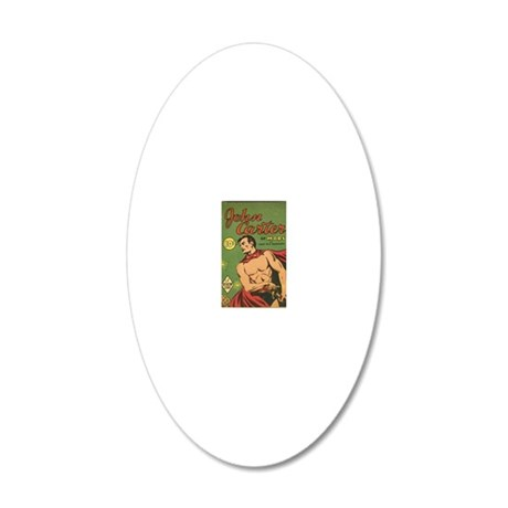 Big Little Book John Carter  20x12 Oval Wall Decal