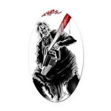 Hell House of Horror's Leatherface Oval Car Magnet