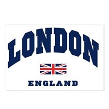 London England Union Jack Postcards (Package of 8)