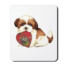shih tzu mom1K Mousepad