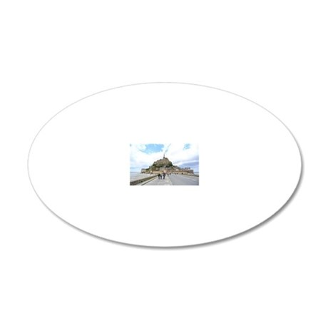 Mont St. Michel, Normandie F 20x12 Oval Wall Decal