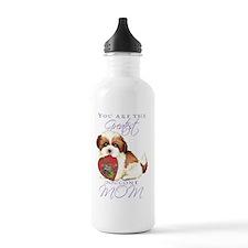 shih tzu-card Water Bottle