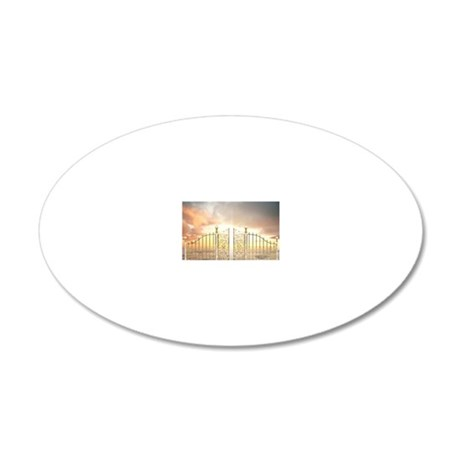 Pearly Gates - wide 20x12 Oval Wall Decal