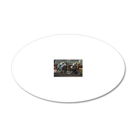 The Finish Line 20x12 Oval Wall Decal