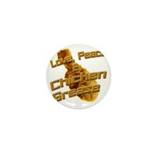 Love, Peace, and Chicken Grease Mini Button