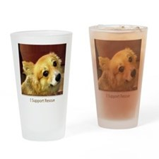I Support Rescue Drinking Glass