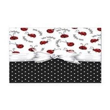 Little Ladybugs Rectangle Car Magnet