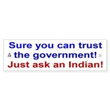 Native American Bumper Bumper Sticker