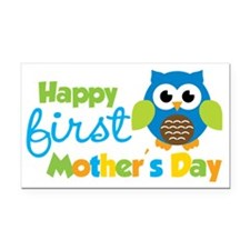 Owl Boy 1st Mothers Day Rectangle Car Magnet