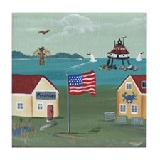 Thomas Point Lighthouse Tile Coaster