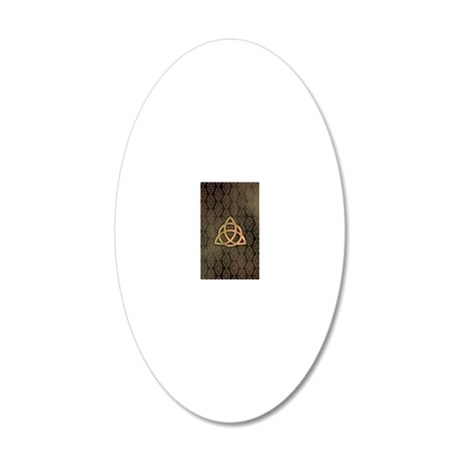 Triquetra - iPhone4 wallet a 20x12 Oval Wall Decal