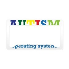 Autism awarness License Plate Holder