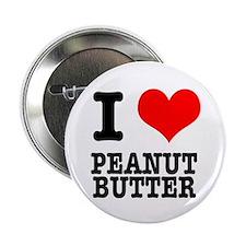 """I Heart (Love) Peanut Butter 2.25"""" Button (10 pack"""