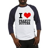 I Heart (Love) Peanut Butter Baseball Jersey