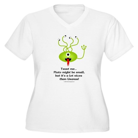 Alien from Pluto Women's Plus Size V-Neck T-Shirt