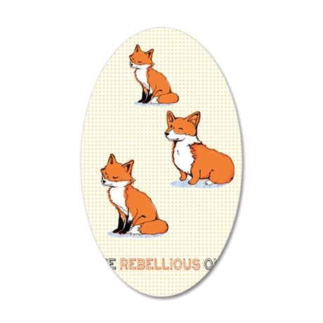 The Rebellious One 35x21 Oval Wall Decal